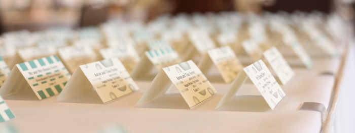 Guest Place Cards For Wedding Seating
